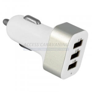 Chargeur triple USB allume...