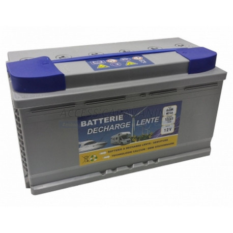 Batterie agm 100 Ah - 12 Volts decharge lente