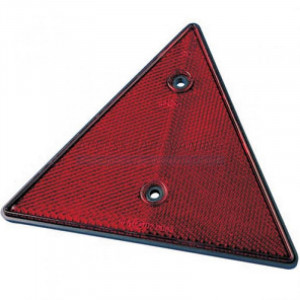Catadioptre triangle rouge