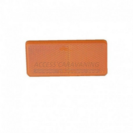 Catadioptre orange (XL) rectangle autocollant