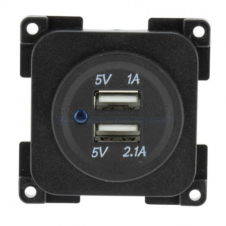 Prise USB 12 Volts double