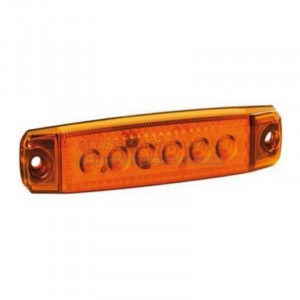 Feu position 6 LED orange plat
